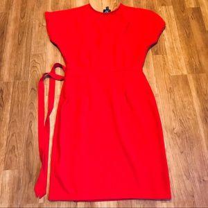 Bobeau Red Wrap Dress Sz XS